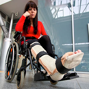 Many accidents can leave Frisco residents in a wheelchair like this one. If you have been hurt, contact a Frisco, Texas personal injury attorney to learn your rights.